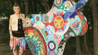 Commission mosaic guitar for the City of Woodstock
