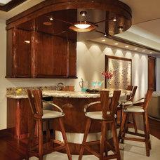 Contemporary Home Bar by La Strada