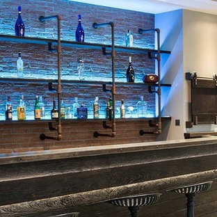 This is an example of a contemporary home bar in Cardiff.