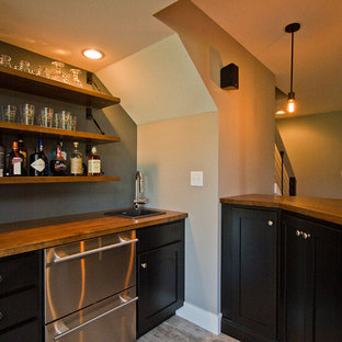 Contemporary Craftsman Basement Remodel