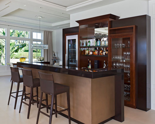 Bar counter design ideas remodel pictures houzz - Contemporary bar counter design ...