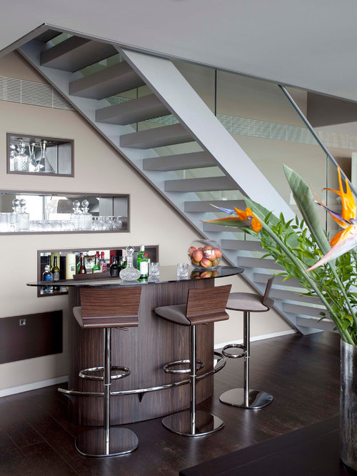 Bar Under Stairs Houzz
