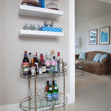 Contemporary Home Bar by Maggie Stephens Interiors