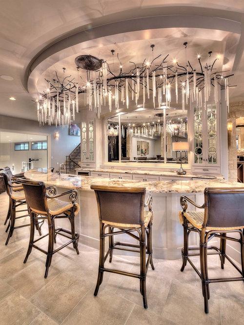Fotos de bares en casa   Diseños de bares en casa con barra de bar ...