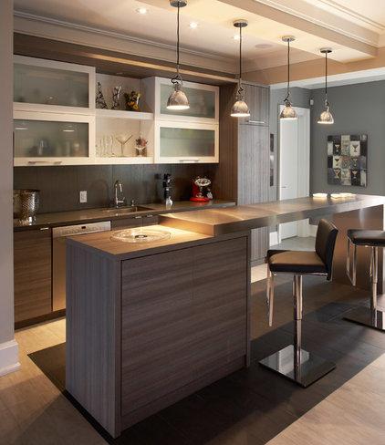 Contemporary Home Bar by Dochia Interior Design