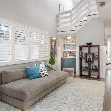 Contemporary Living room and Bar
