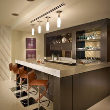 Contemporary Home Bar by Interiors by Steven G