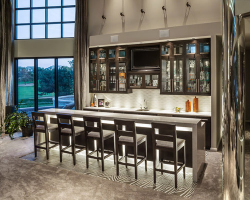 Contemporary wet bar ideas pictures remodel and decor for Modern wet bar designs