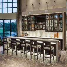 Contemporary Home Bar by timothyj kitchen & bath, inc.