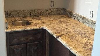 """""""Copenhagen"""" Granite Kitchen and Bathroom with """"Titanium"""" Granite Bathrooms"""