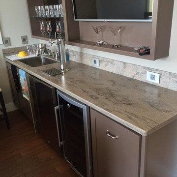 Corian Riverbed Bar Top with Tapper