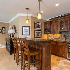 Transitional Home Bar by Kroiss Development, Inc.