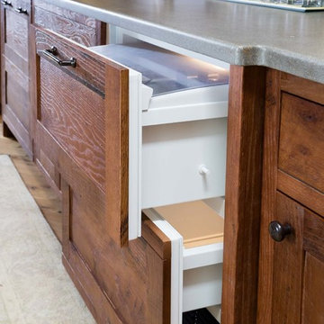 Craftsman Kitchen, Pantry, and Bar by Austin Bryant Moore
