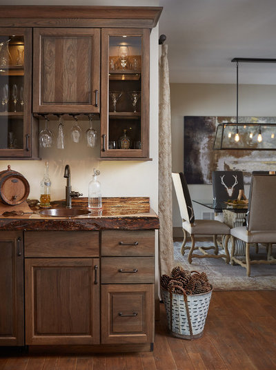 Rustic Home Bar by Villa Decor