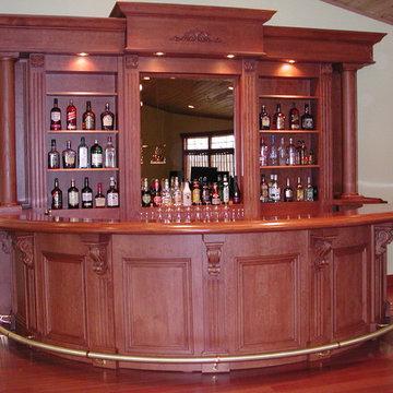 Custom 14' Round Bar | Sheridan Interiors Kitchens + Baths | Ottawa, Cornwall