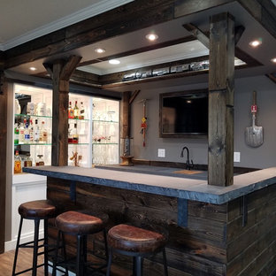 Custom Bar Featuring Concrete Bar Counters