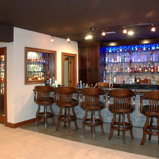 Eclectic Home Bar by Otero Signature Homes