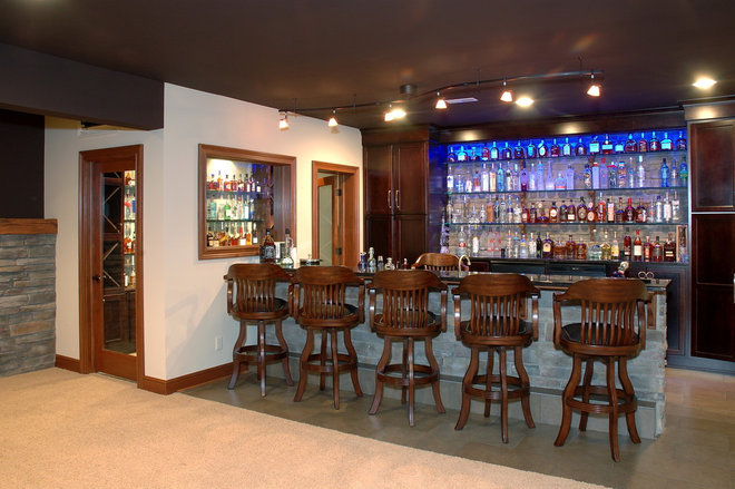 Traditional Home Bar by Otero Signature Homes