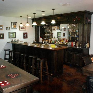 Custom Home bar and game room