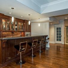 Transitional Home Bar by Newgard Custom Homes