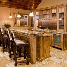 Traditional Home Bar by Patty Jones Design, LLC