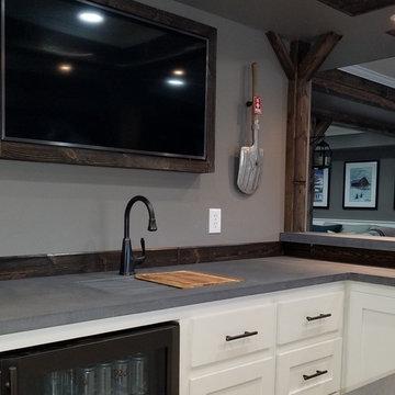 Custom Sink design, Integral Concrete Sink