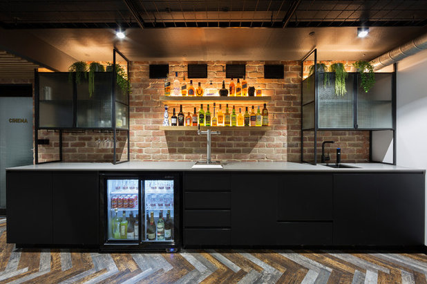 Contemporary Home Bar by The Dept of Design