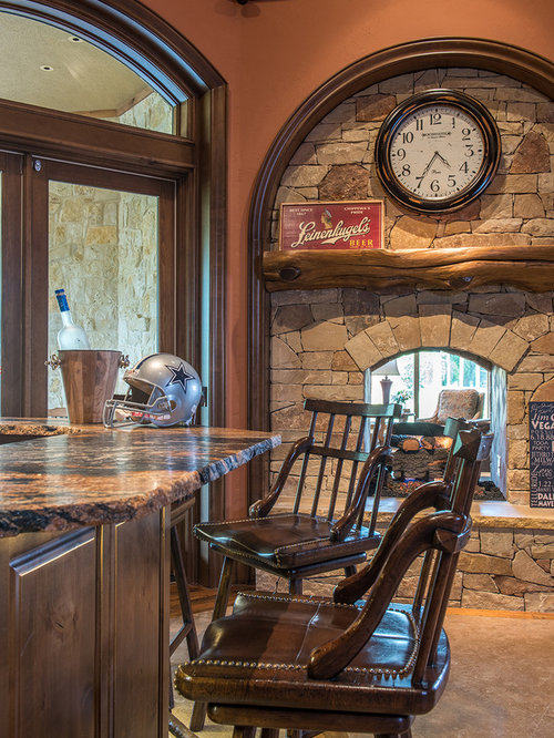 Best Rustic Dallas Home Bar Design Ideas Remodel Pictures Houzz
