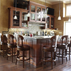 Traditional Home Bar by Diablo Valley Cabinetry