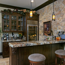 Traditional Home Bar by McCullough Design Development Inc