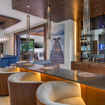 Dining and Bar in Contemporary Home for Entertaining