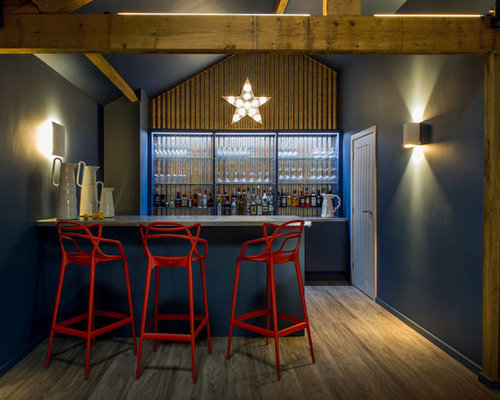 Design Ideas For A Rustic Home Bar In Dorset.
