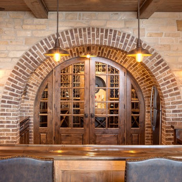 Double brick arched bar