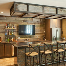 Rustic Home Bar by The Cabinet Store