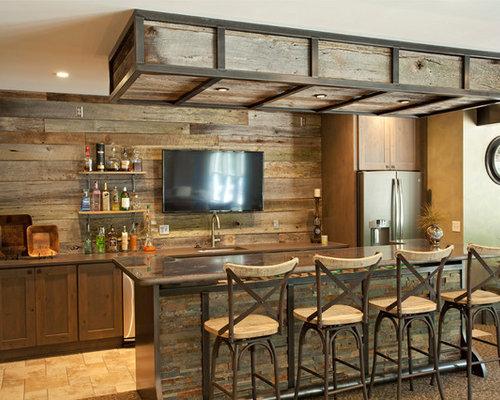 Rustic Home Bar Design Ideas Remodels Photos