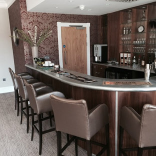 Photo of a contemporary home bar in Sussex.