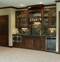 traditional basement by Werschay Homes