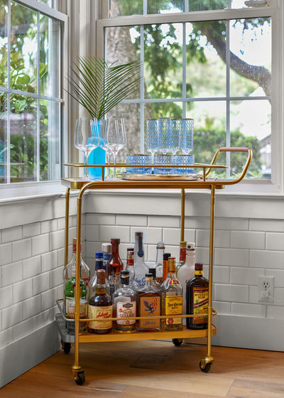Beach Style Home Bar by Robyn McQuiston Design