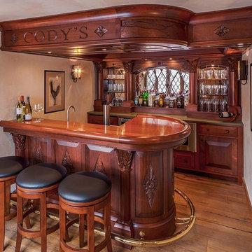 English style basement pub