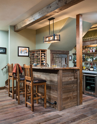 Rustic Home Bar by M.T.N Design