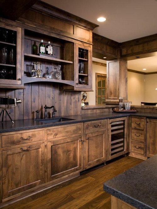 Coole Schrankfronten Wardrobe: Rustikale Hausbar Einrichten: Ideen & Design