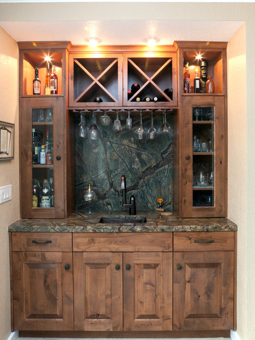 Rustic asian craftsman home bar design ideas renovations photos Home bar furniture seattle