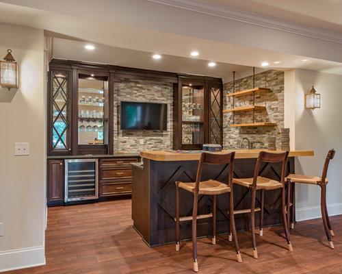 Traditional home bar design ideas renovations photos for Vinyl flooring enfield
