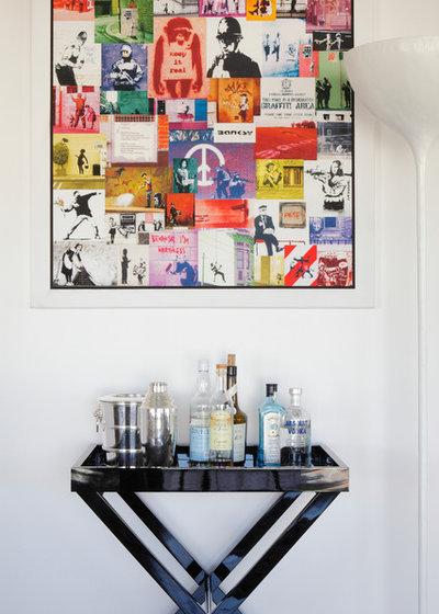 Contemporary Home Bar by Sarah Ross Design