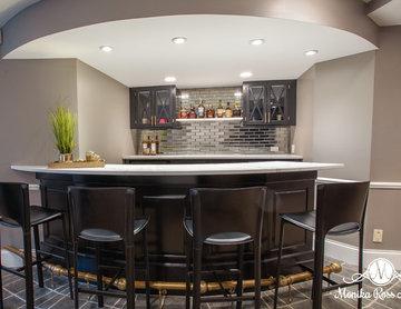 Glam Basement Bar
