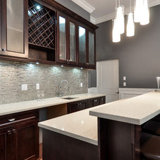 Contemporary Home Bar by Atlas Custom Cabinets Ltd