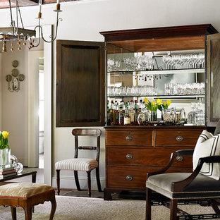 Example of a classic home bar design in Atlanta