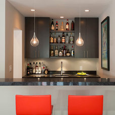 Contemporary Home Bar by FQ DESIGNS GROUP