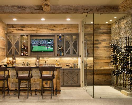 Bancone bar in montagna foto idee arredamento - Bancone bar per casa ...