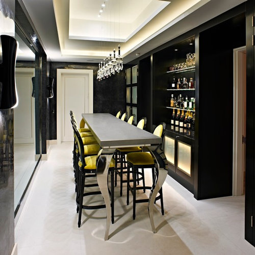 Home Bar Design Ideas Houzz: 50 Contemporary Home Bar Design Ideas